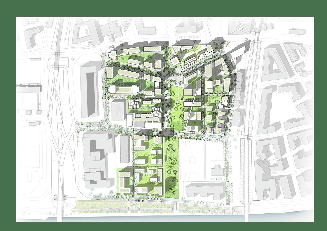 Fond Quartier de Seine Ouest Carte Interactive